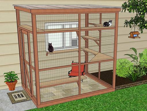 Sanctuary Catio Diy Plan Cat Enclosure Catiospaces