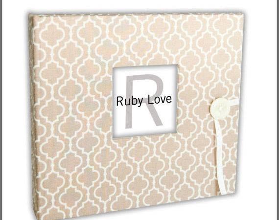 Sand Moroccan Tiles Album Ruby Love Modern Baby Memory Book