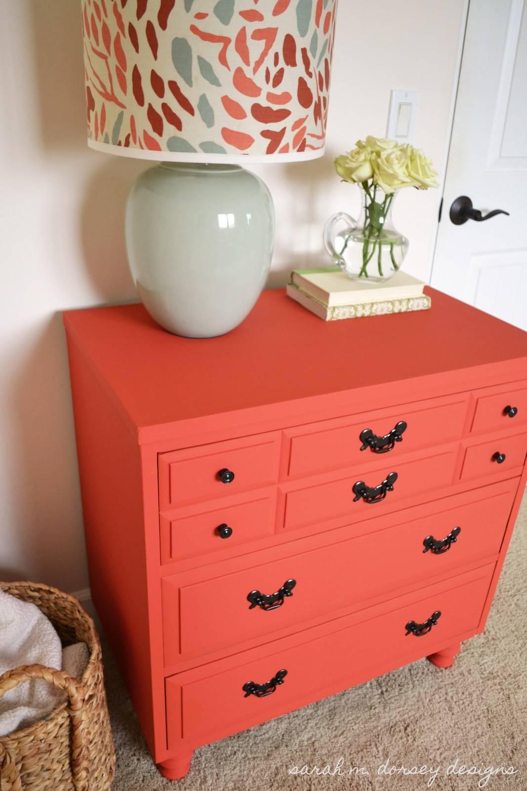 Sarah Dorsey Designs Coral Dresser Guest Bedroom