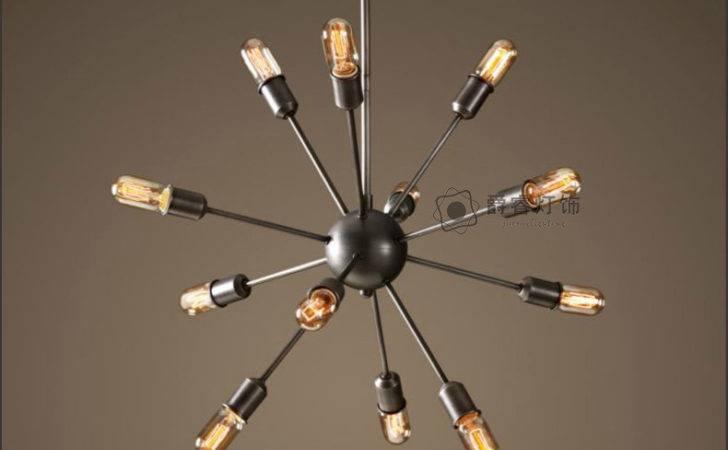 Satellite Black Iron Vintage Chandelier Lights Dining Room Lustre