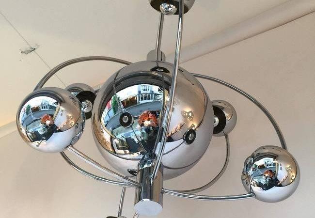Satellite Chandelier Chrome Reggiani Italy Stdibs