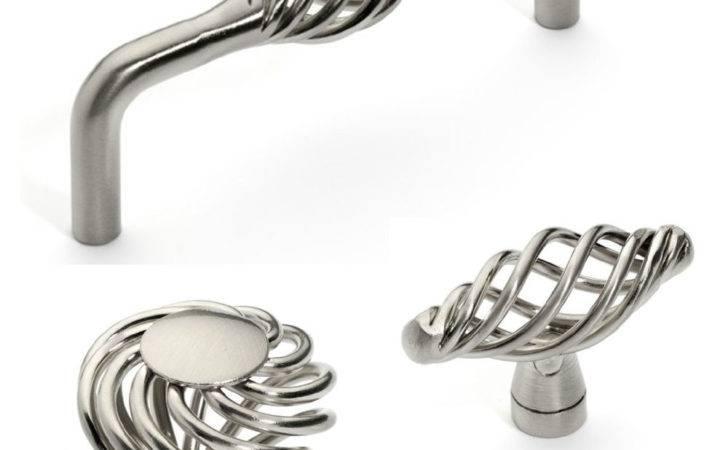 Satin Nickel Birdcage Cabinet Hardware Knobs Pulls Ebay