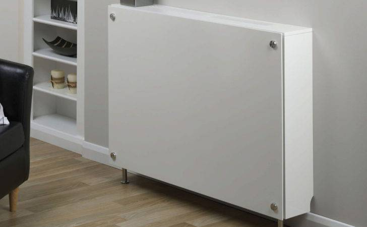 Satin White Contemporary Style Flat Screen Radiator Cover Ebay