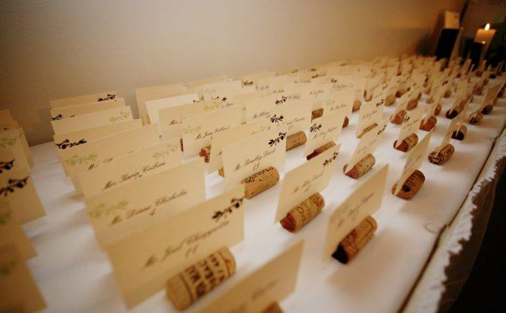 Savvy Diy Bride Wine Cork Place Card Holders