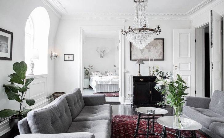 Scandinavian Home Design Combining White Black Original Decor