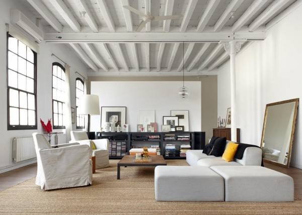 Scandinavian Home White Industrial Style Loft Barcelona