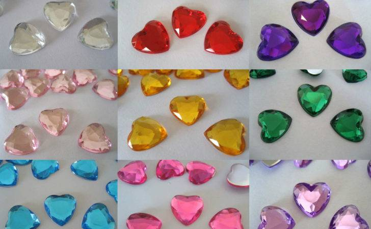 Scatter Table Confetti Decorations Gem Crystal Diamond