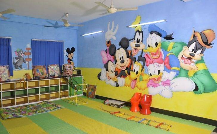 School Wall Painting Indore Playschool Cartoon Art