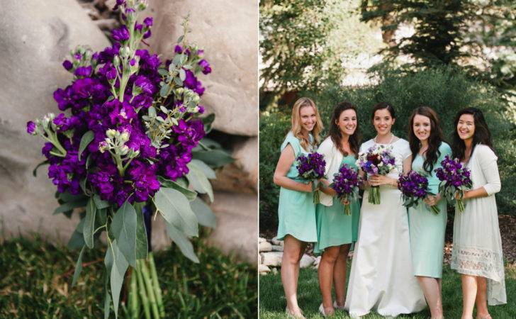 Sea Foam Purple Sundance Resort Summer Wedding Utah