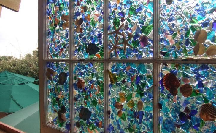 Sea Glass Shell Window Art Monarchpost Typepad