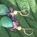 Seafoam Green Chalcedony Purple Aventurine Freshwate