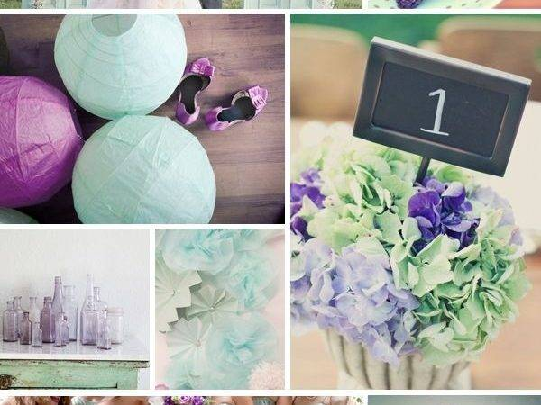 Seafoam Purple Wedding Colors