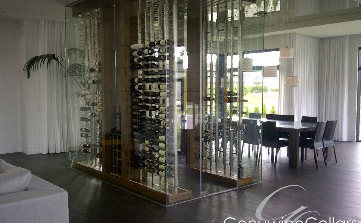Seamless Glass Wine Rooms Cellars Provide Clean Modern