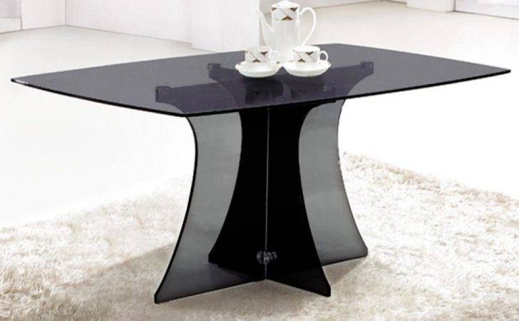 Seater Dining Table Black Glass