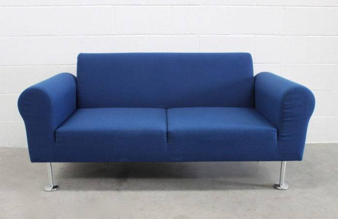 Seater Fabric Chesterfield Sofa Bright Blue Color
