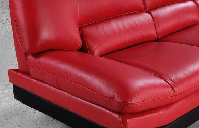 Sectional Sofa Bright Red Leather Sectionals