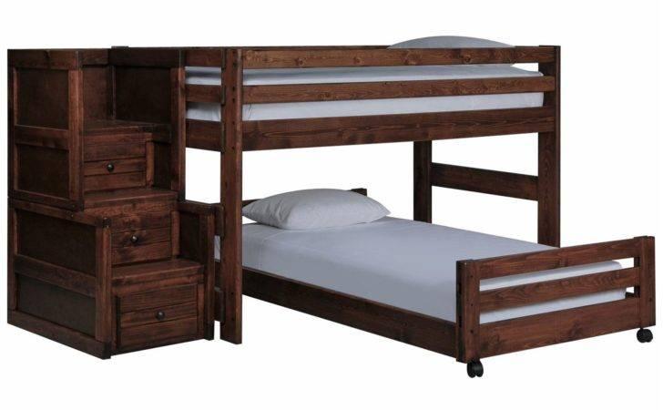Sedona Junior Loft Bed Caster Stair Chest Living