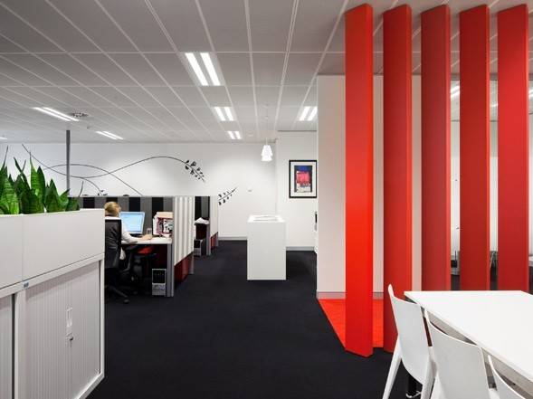 Sefiani Office Design Modern Red White Home Decorating Ideas