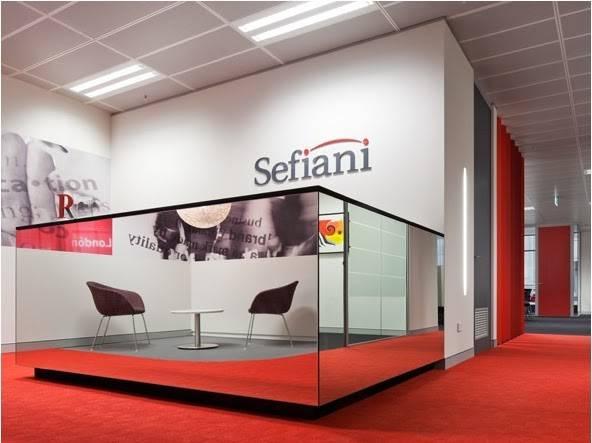 Sefiani Office Design Modern Red White Interior Home