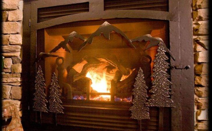 Selway Mountain Gas Fireplace Iron Doors Dream Home Decorating Idea