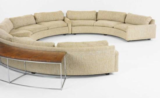 Semi Circular Sofa Milo Baughman Mid Century Modern Furniture