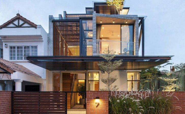 Semi Detached House Elongated Volumes Singapore Design