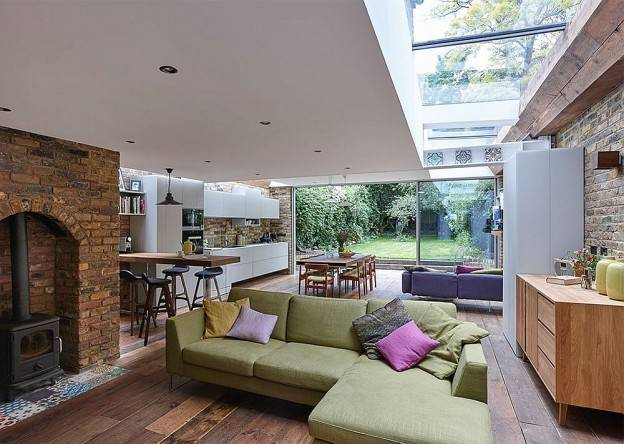 Semi Detached London Terrace Property Gets Brilliant Modern