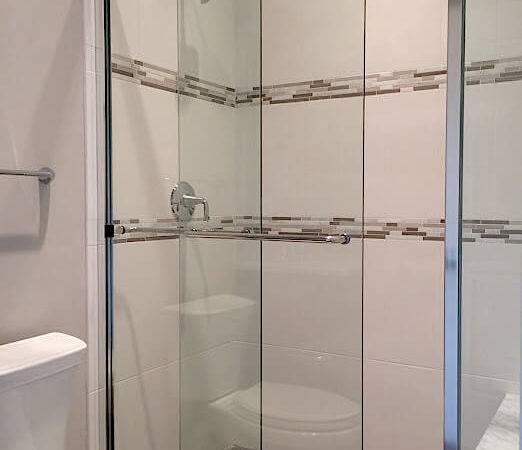 Semi Frameless Shower Glass Door Enclosure Standup