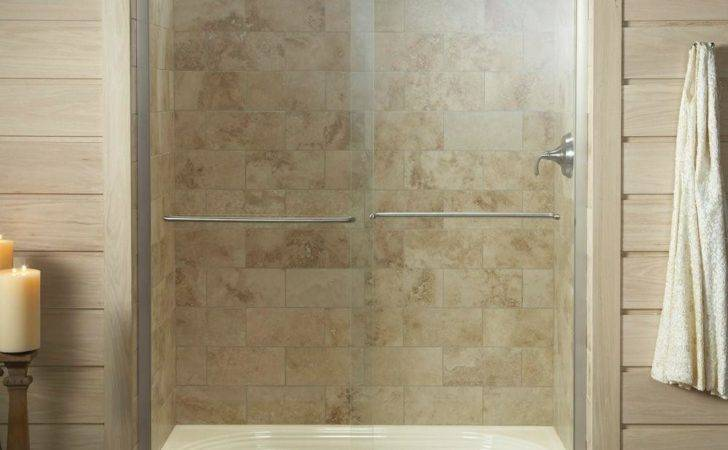 Semi Frameless Sliding Shower Door Matte Nickel Clear Glass