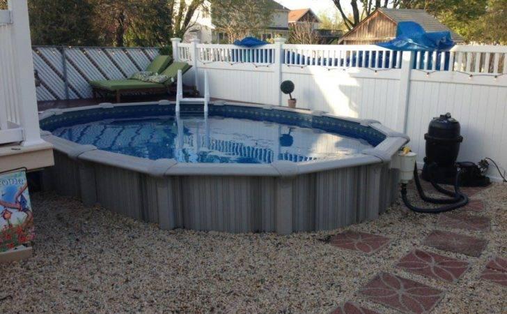 Semi Inground Pool Sizes Backyard Design Ideas