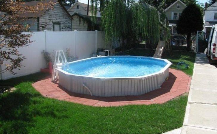 Semi Inground Pools Elegant Backyard Small