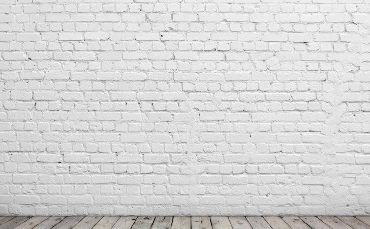 Send Rolled Chic White Brick Backdrop Wall