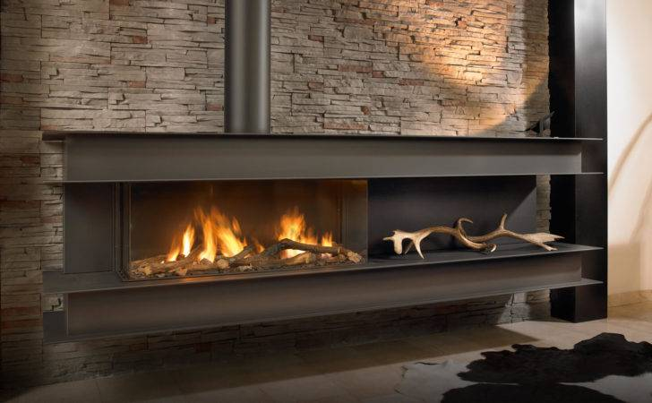 Seno Modern Wall Hung Gas Fire High Efficiency