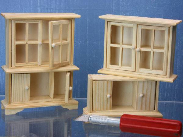 Separate Simple Hutch Into Piece Used Make Dolls House