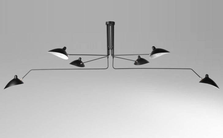 Serge Mouille Six Arm Ceiling Light Designer Lighting