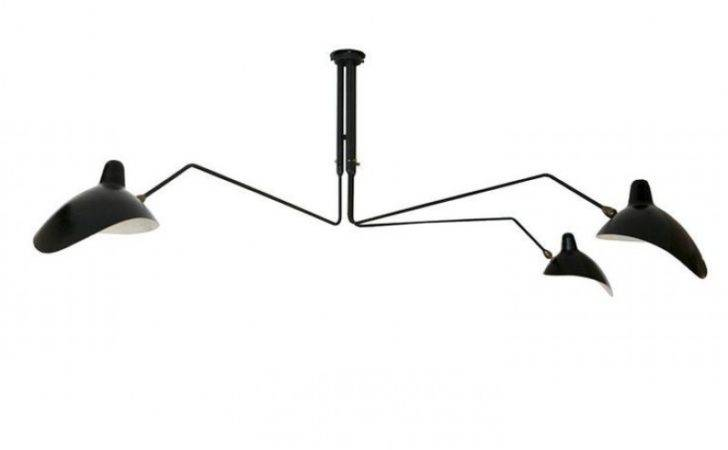 Serge Mouille Three Arm Pendant Lamp Reproduction Contemporary