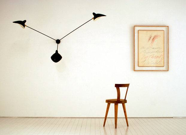 Serge Mouille Three Arm Spider Wall Lamp Less Expensive Version