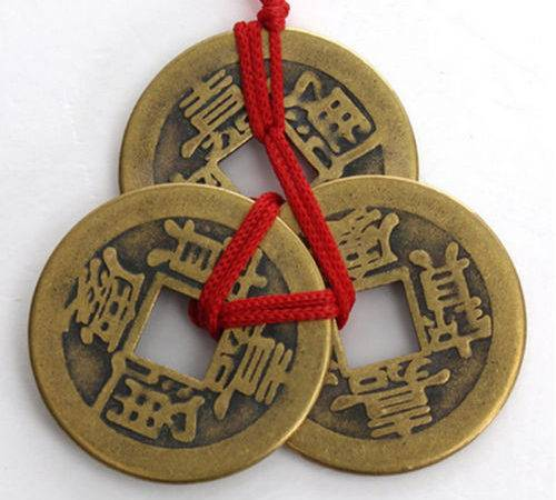 Set Chinese Feng Shui Coins Wealth Success Lucky Ebay