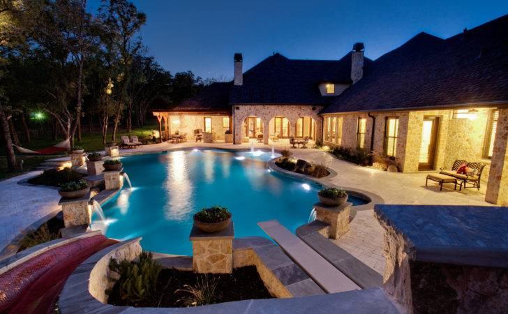 Set Design Swimming Pool Large Luxury Home