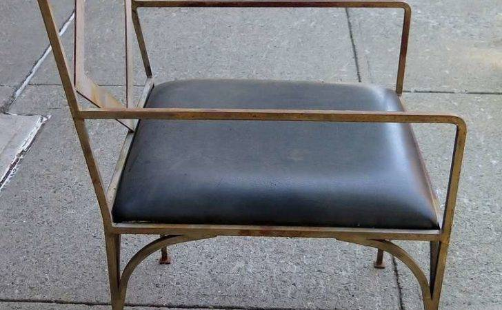 Set Four Iron Outdoor Chairs Sale Stdibs