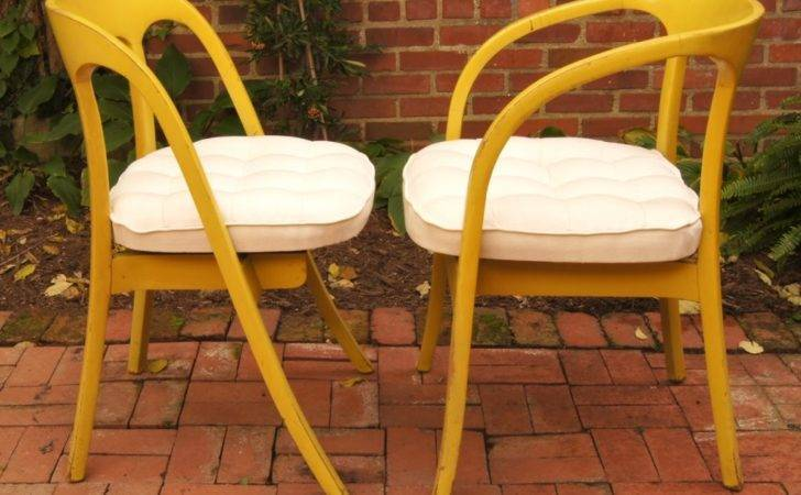 Set Four Painted Mid Century Modern Dining Chairs Stdibs