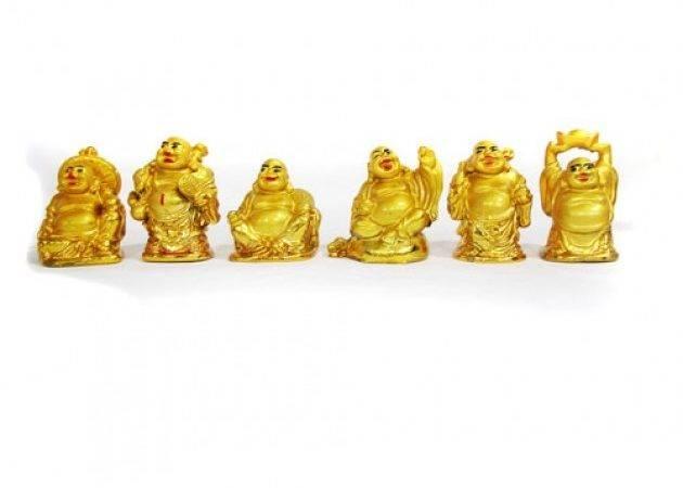 Set Laughing Buddha Small Feng Shui