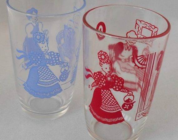 Set Vintage Swanky Swigs Glasses Bustlin Betsy Oodles