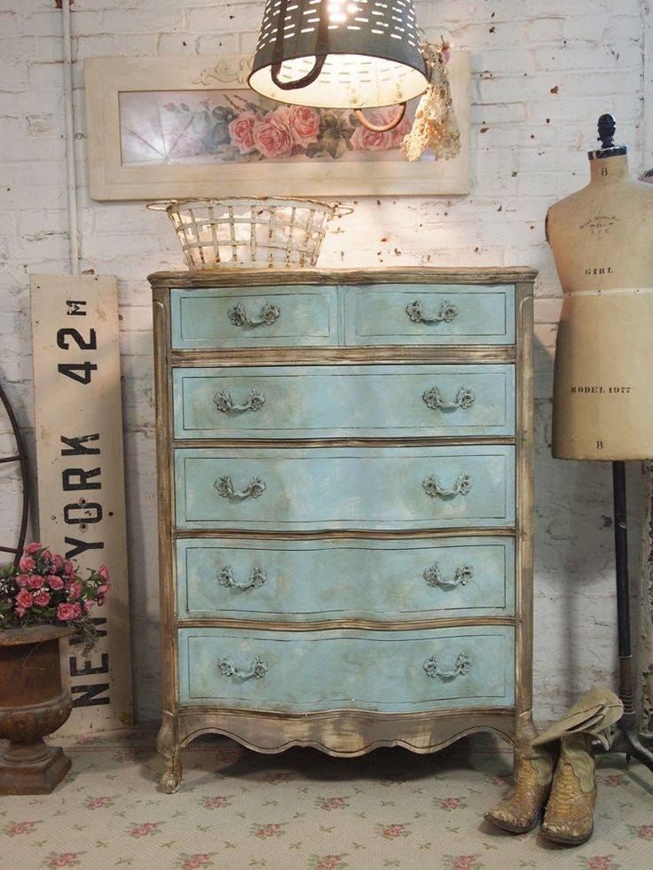 Shabby Chic Chalk Painted Furniture Cottage Aqua