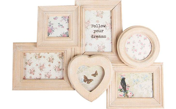Shabby Chic Collage Frame Rustic White Wood Multi Frames
