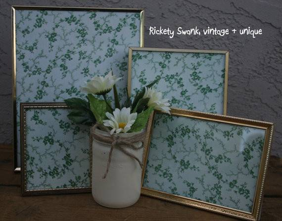 Shabby Chic Frame Collage Wall Cluster Decor Vintage Print Wedding