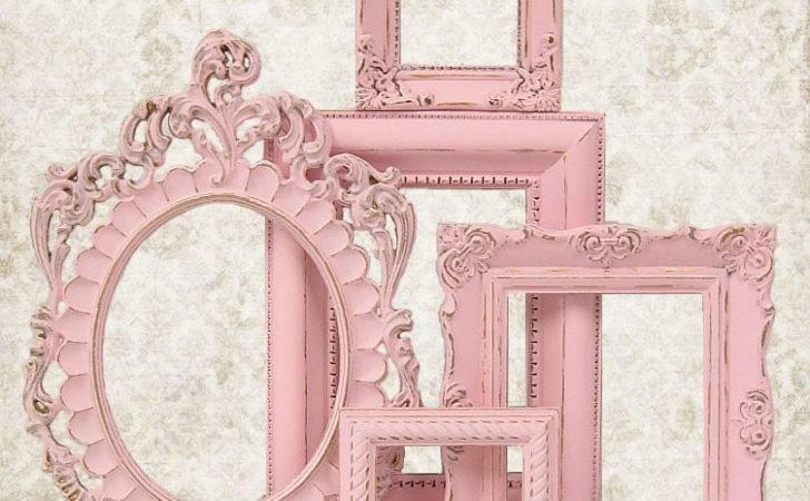 Shabby Chic Frame Pastel Pink Set Ornate