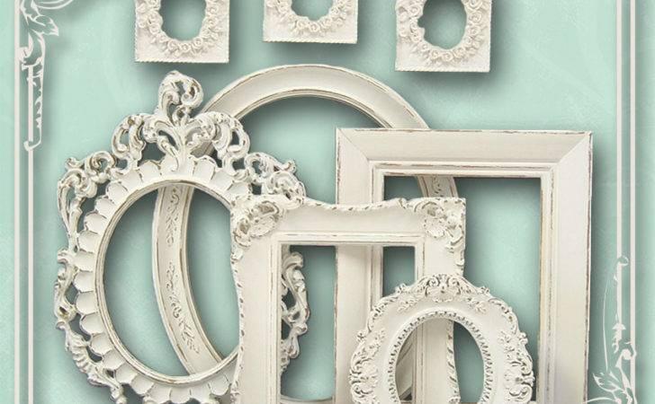 Shabby Chic Frames Frame Set White Mountaincoveantiques