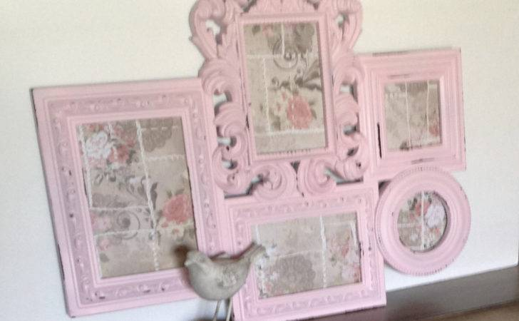 Shabby Chic Pink Frame Collage Large Refeatheryournest