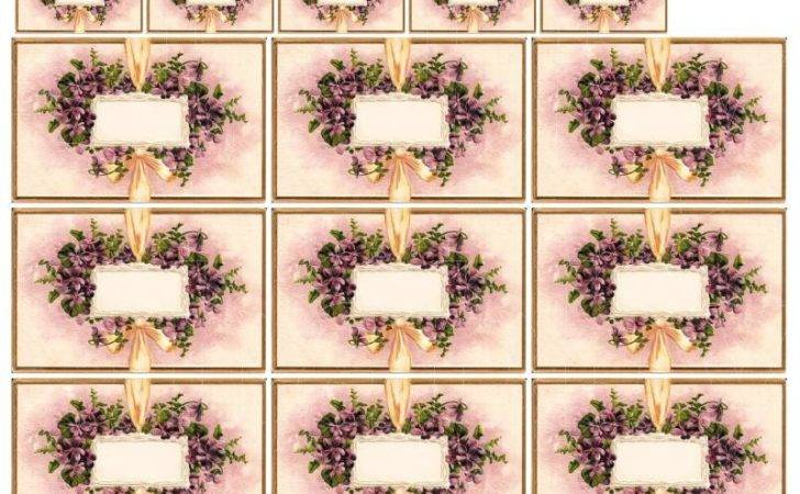 Shabby Chic Purple Violets Frame Collage Shabbybeautiful